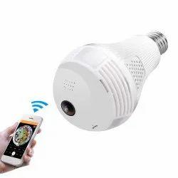 Day & Night Vision 360 Deegree panaromic Wifi Bulb Camera, For V380 Pro, Dc