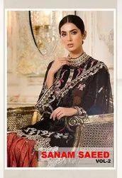 Kaara Sanam Saeed vol 2 Designer Faux Georgette Pakistani Suit Catalog
