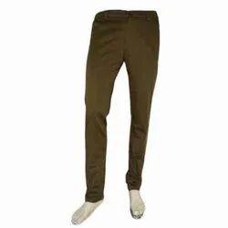 Brown Plain Mens Casual Cotton Trouser, Size: 28-34
