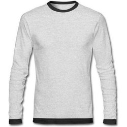 Round Men Full Sleeve Cotton T Shirt