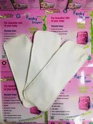 Henky New Born Baby To 3 Year Baby Cloth Diaper Insert, Size: 13 cm x 9 cm x 5 cm, Age Group: new born to 3 year