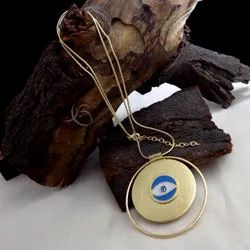 GOLD PLATED NECKLACE   EVIL EYE NECKLACE   FASHION JEWELRY