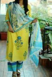 Cotton Casual Wear Indian Ethnic Designer Kurti With Pent, Wash Care: Handwash