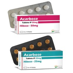 Acarbose 25mg / Acarbose 50mg Tablet