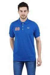 G.Grace Collar Royal Blue Polo T-Shirt