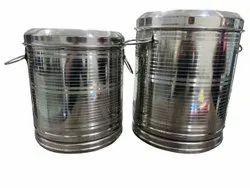 Round 22 G Stainless Steel Storage Container