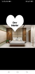 DEV INTERIOR Maple Wood Bed Room, For Plywood, Size: Queen
