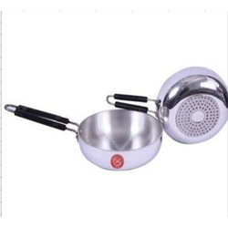Silver Aluminium Induction Frying Pan, For Home, Capacity: 2 L