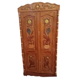 Hinged Brown Designer Wooden Almirah, For Home