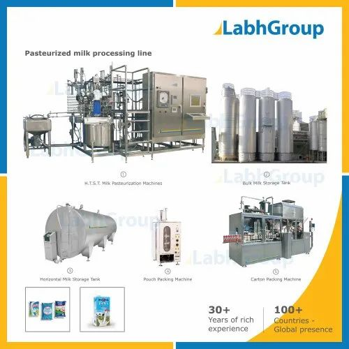 Pasteurized Dairy Milk Processing Machines Production Plant