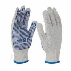 Pvc Dotted Glove, Finger Type: Full Fingered