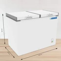 Bluestar 400 L Double Door Chest Freezer (chfdd400mgpw, White)