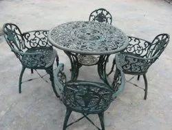 Cast Aluminium Garden Chairs Set, For Outdoor