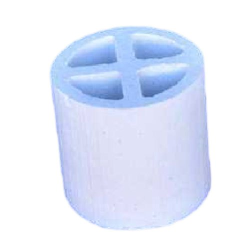 White Round 4 Cell Ceramic Raschig Ring, For Chemical Tower