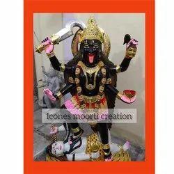 Painted Marble Kali Mata Statue