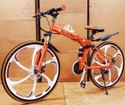 Orange  Mercedes Benz  6s Foldable Cycle