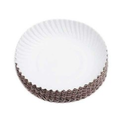 Curved 5 Inch Disposable White Paper Dish (Regular Use)