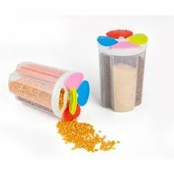 Plastic 4 Section Container