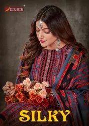 Roli Moli Silky Pashmina Jacquard Print With Siroskey Dimond Work Dress Material Catalog