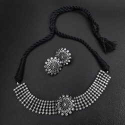 Antique Charm Choker Necklace Set
