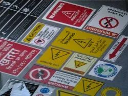 PVC Warning Stickers, Packaging Type: Packet