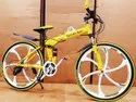 Yellow  Mercedes Benz  6s Foldable Cycle