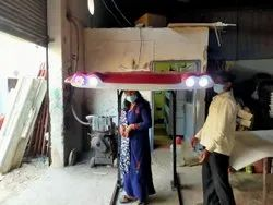 Tractor Roof Canopy Complete Set( Roof, 4 LED Light, 2 Indicator, Fan, MS Frame , Mirror)