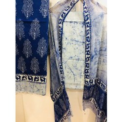 Shree Emporium 48 inch Batik Block Cotton Dress Material