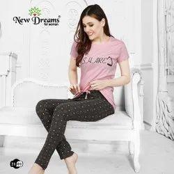 Cotton Regular Wear Ladies Nightwear, Size: 26.0