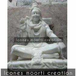 4 Feet Marble Shiva Statue