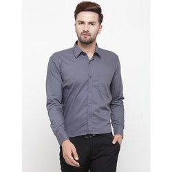 Cotton Plain Mens Formal Shirt, Handwash