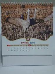 2021 Paper Desk calendar, For Multi usage