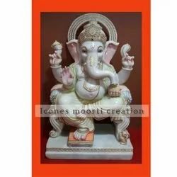 Fancy Sitting Marble Ganesh Statues