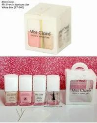 Square White Miss Claire 4 Pcs French Manicure Set, For Personal, Parlour, Type Of Packaging: Box