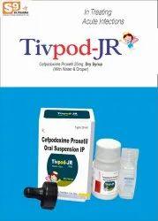 TIVpod-JR Dry Syp Cefpodoxime Proxetil 25mg ( With Wfi)