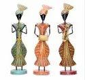 Nirmala Handicrafts Iron Craft Punjabi Musicians Standing Set Home Decor And Gift Showpiece