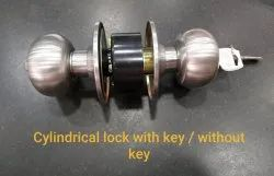 Main Door Knob / Cylinder CYLINDRICAL LOCK SS, Stainless Steel