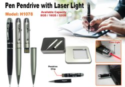 Pen Pendrive with Laser Light H1078