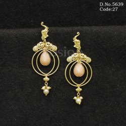 Traditional Elephant Design Chandbali Earrings