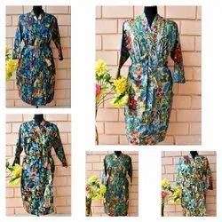Cotton kimono robe, Size: Free