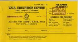 School Fees Book Printing Services