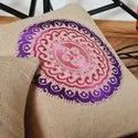 Jute Embroidery Cushion Cover