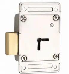 JAINSON LOCKS Furniture And Door Lock CAPAT SMART (UNIVERSAL) (BRASS LATCH), BRIGHT FINISH, Packaging Size: 75 Mm