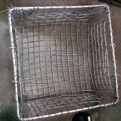 Mild Steel Chrome Bharat Railway Wire Basket, Square