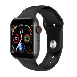 Black Silicone W 34 Apple Watch Best quality, 70 Grams