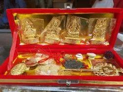 Golden Brass Shri Dhan Laxmi Kuber Bhandari Yantra, 150 Gm, Packaging Type: Box