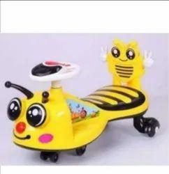 Yellow Plastic Safaa Kids Ride On Push Car, 1