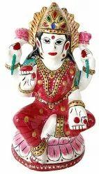 Resin Laxmi Statue Handmade Enamel Work Indian God Idol Sculpture