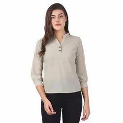 Ladies 3/4 Th Sleeve Georgette Top