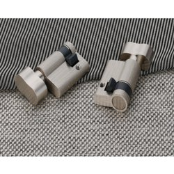 Decowell Cabinets Brass Half Cylindrical Lock With Knob, Satin